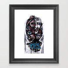 YES bear Framed Art Print