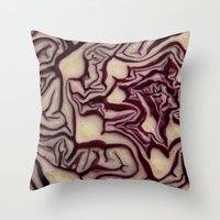 vegetable Throw Pillows featuring decorative vegetable by MehrFarbeimLeben