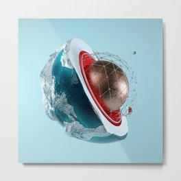 Planet Core Metal Print