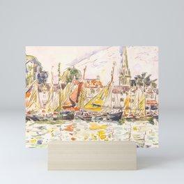 "Paul Signac ""Le Pouliguen Fishing Boats"" Mini Art Print"