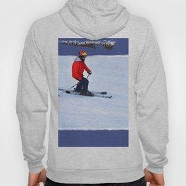Winter Run - Downhill Skier Hoody
