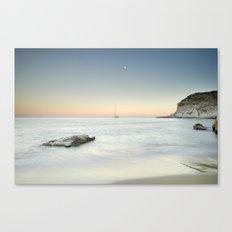 SuperMoon At Plomo Beach. Summer dreams Canvas Print