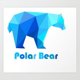 Blue polar bears Art Print