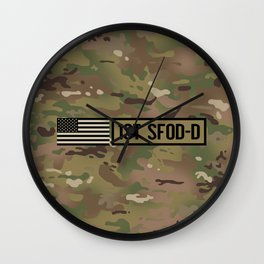 1st SFOD-D (Camo) Wall Clock