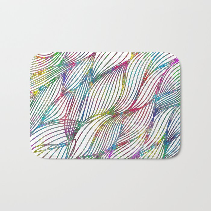Trace Paint Abstract Bath Mat