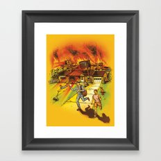 Bad Reception Framed Art Print