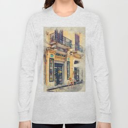Trapani art 21 Sicily Long Sleeve T-shirt