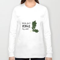 humor Long Sleeve T-shirts featuring Kale humor by A*WIZ