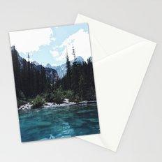 Glacier Creek, Moraine lake Banff Stationery Cards