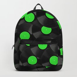 Vinyl Records Pattern (Green) Backpack