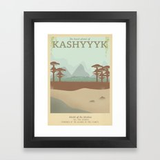 Retro Travel Poster Series - Star Wars - Kashyyyk Framed Art Print