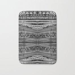 Linocut Tribal Pattern Bath Mat