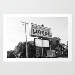 Liquor Store Art Print