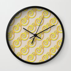 Golden swirls Wall Clock