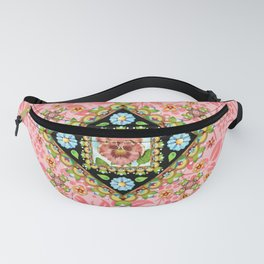 Pink Pansy Cottage Fanny Pack
