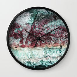 Beach Vibe in Pink Wall Clock