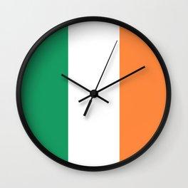 Irish Tricolour Green Orange and White Irish Flag Wall Clock