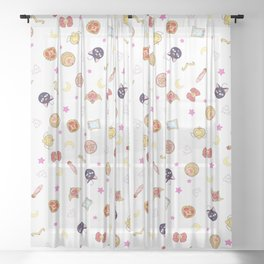 sailor moon pattern Sheer Curtain