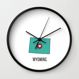 Wyoming State Heart Wall Clock
