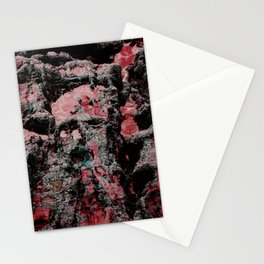 Red Stone Faces Stationery Cards