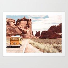 Desert Road Trip Art Print