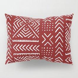 Line Mud Cloth // Maroon Pillow Sham