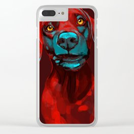 The Dogs: Rufus Clear iPhone Case