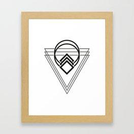 Triple Triangle Framed Art Print