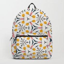 Hugo geo floral simplistic pink and orange pattern Backpack