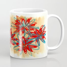 Painted Flowers Coffee Mug