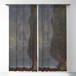 Gustav Klimt - Approaching Thunderstorm (The Large Poplar II) Blackout Curtain