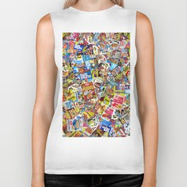Cereal Boxes Collage Biker Tank