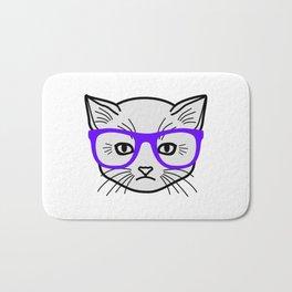 Hipster Kitty Bath Mat