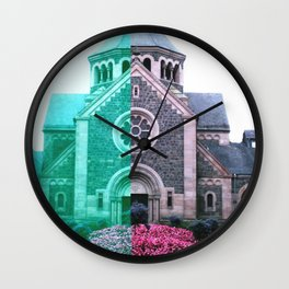 Cracked church... Wall Clock