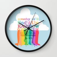 muppets Wall Clocks featuring the rainbow connection.. the muppets by studiomarshallarts