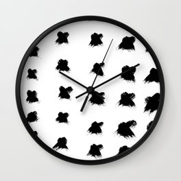 Pierre Pattern - Pure White Wall Clock