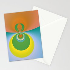 Colorful Space Stationery Cards