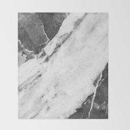 Titan River Black Throw Blanket