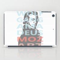 mozart iPad Cases featuring Wolfgang Amadeus Mozart by César Padilla