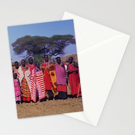 Sweet Welcome to a Massai Village - Kenya, Africa Stationery Cards