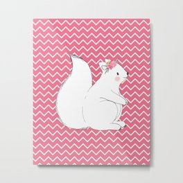 Woodland Squirrel Metal Print