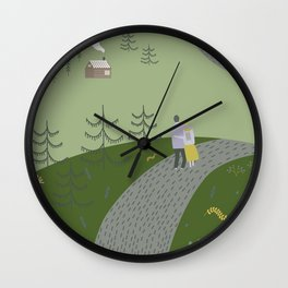 Mountain Walk Wall Clock