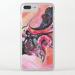 Fight for freedom Clear iPhone Case