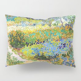 Vincent van Gogh - Garden At Arles, Flowering Garden With Path - Digital Remastered Edition Pillow Sham