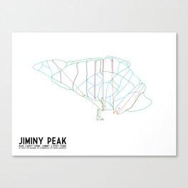 Jiminy Peak, MA - Minimalist Trail Art Canvas Print