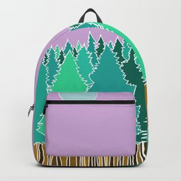Forest Under a Purple Sky Backpack