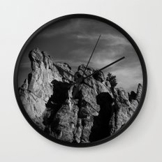 Garden of the Gods B&W Wall Clock