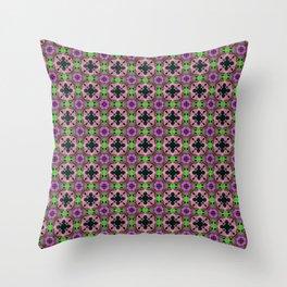 Gold Strands - Pink Throw Pillow