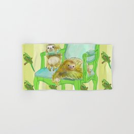 animals in chairs #6 The Sloth Hand & Bath Towel