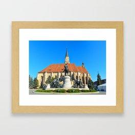 cluj napoca church Framed Art Print